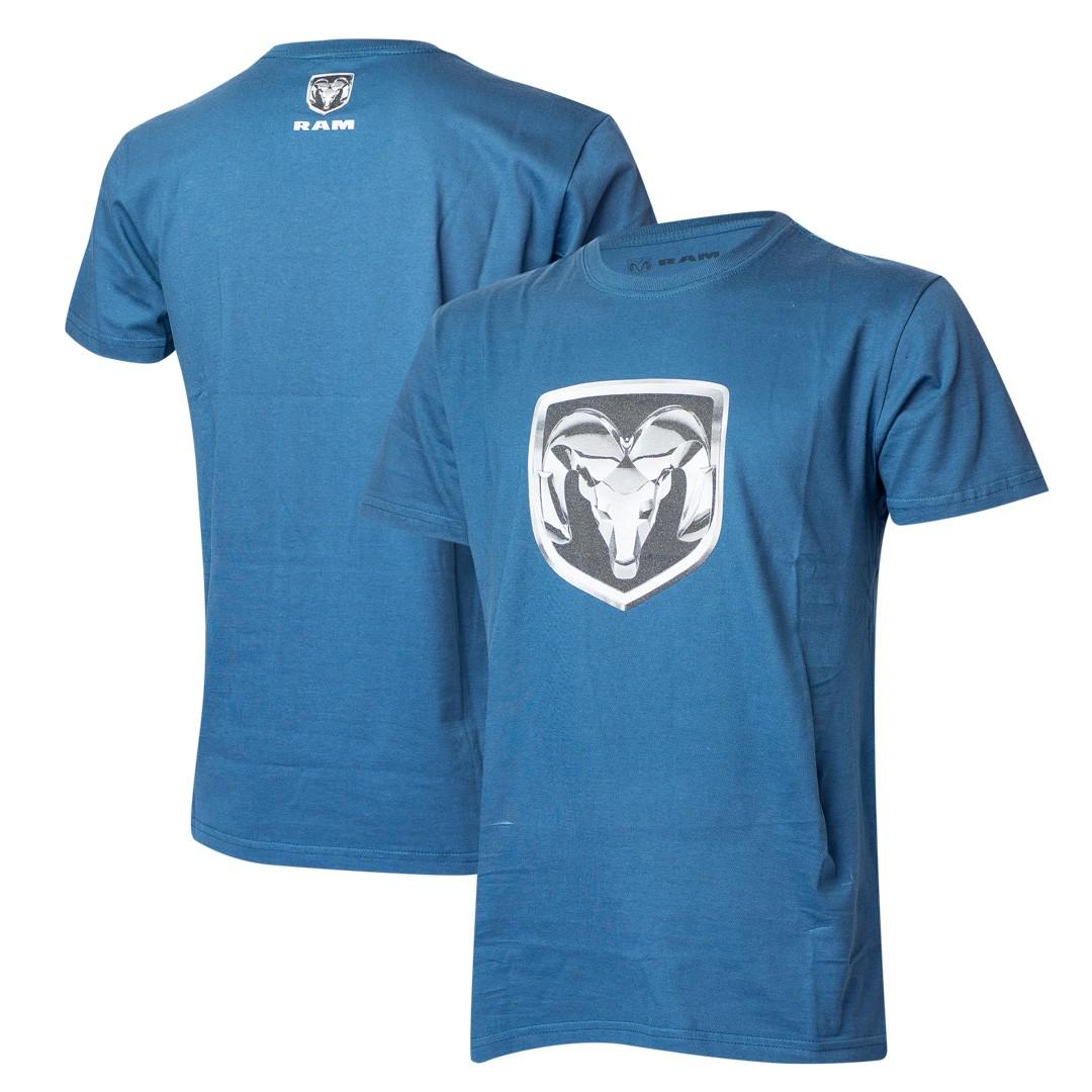 Camiseta Masculina RAM DTG Shield - Azul Marinho
