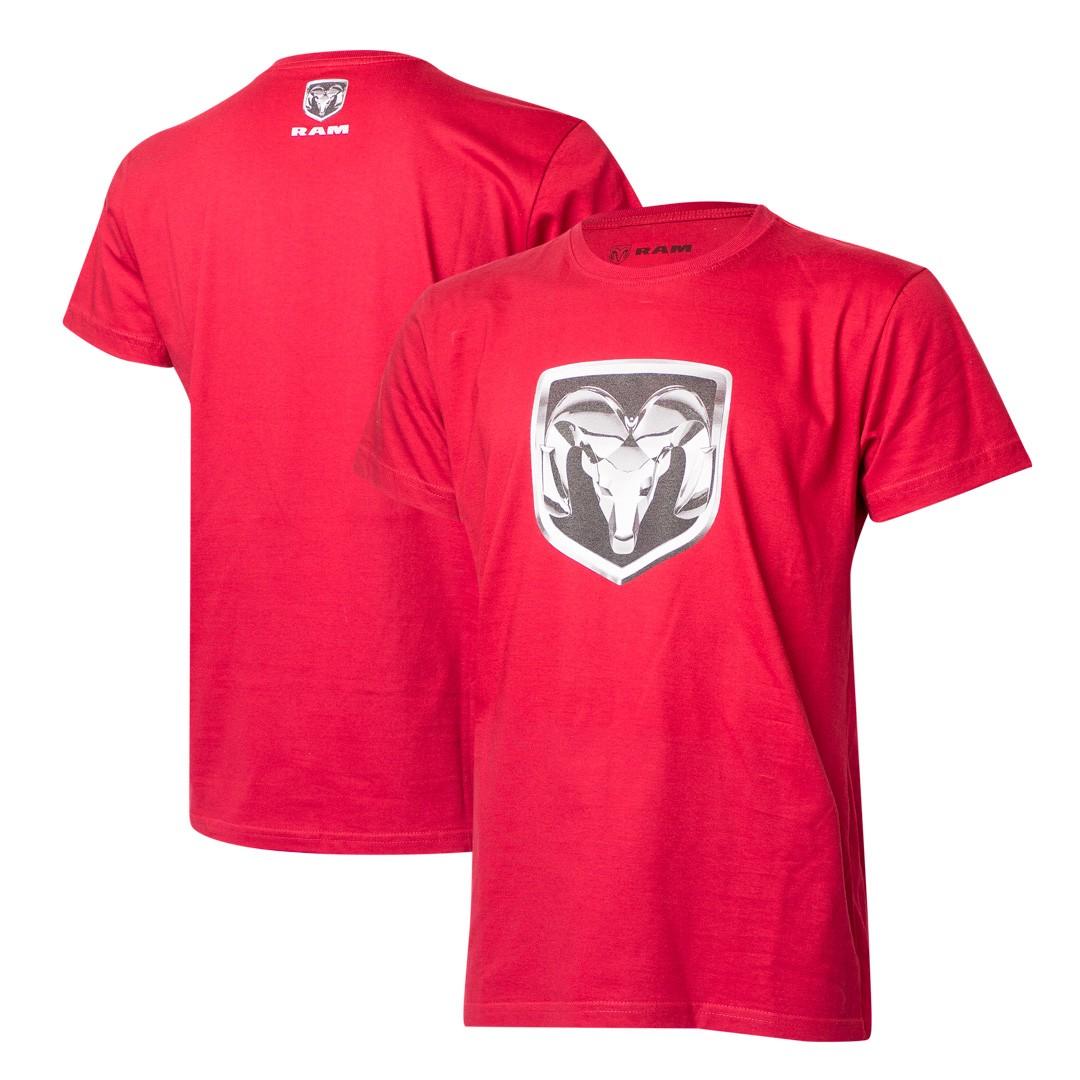 Camiseta Masculina RAM DTG Shield - Vermelha