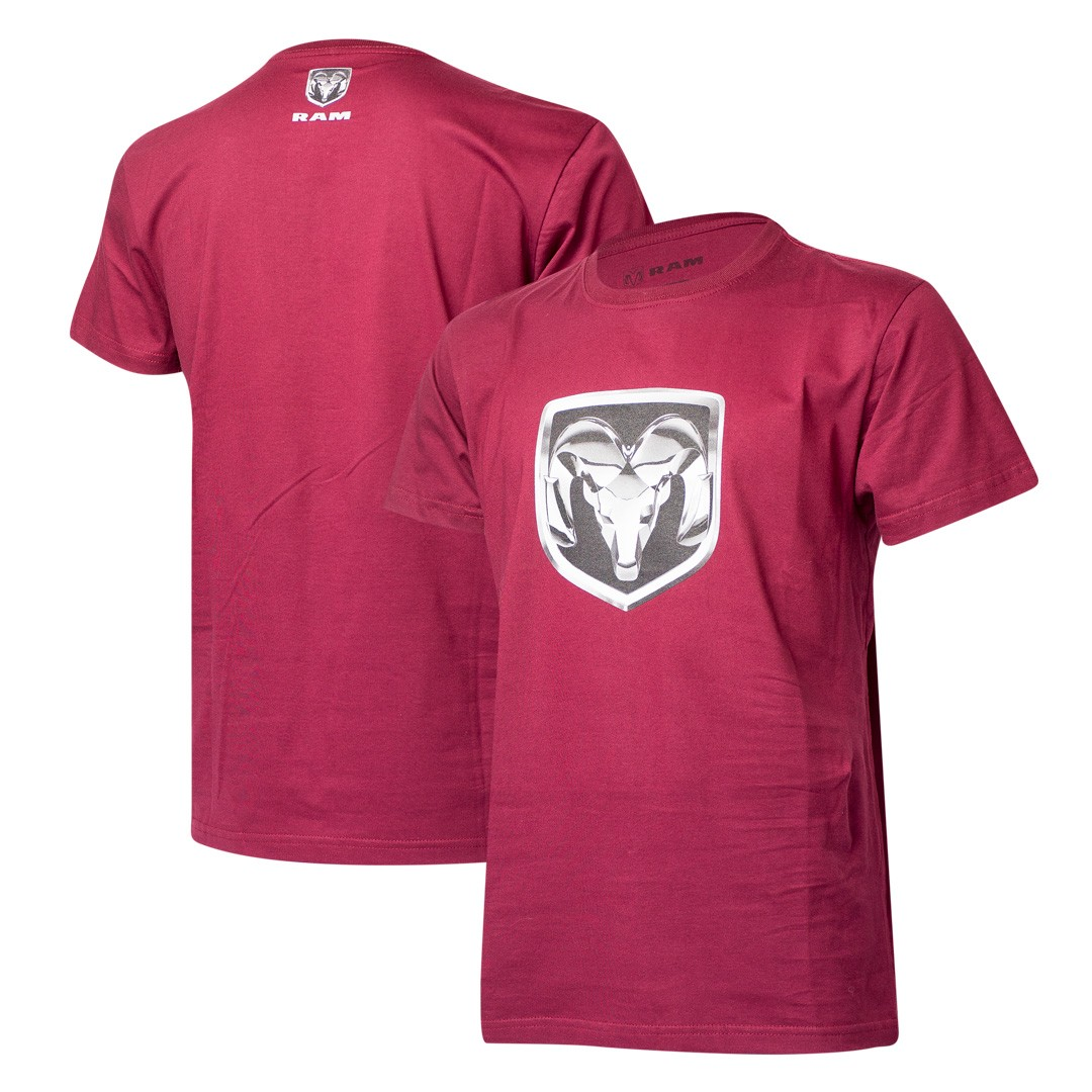 Camiseta Masculina RAM DTG Shield - Vinho
