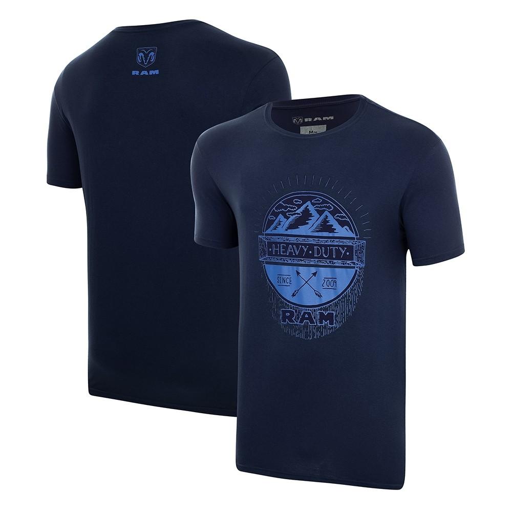 Camiseta Masculina RAM Heavy Duty - Azul Marinho