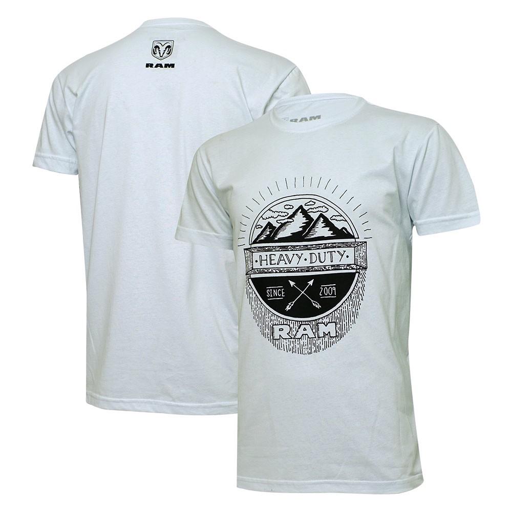 Camiseta Masculina RAM Heavy Duty - Branca