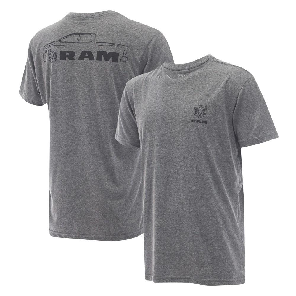 Camiseta Masculina RAM Pickup - Cinza Mescla