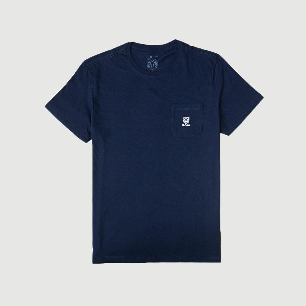 Camiseta RAM Pocket Logo - Azul Marinho