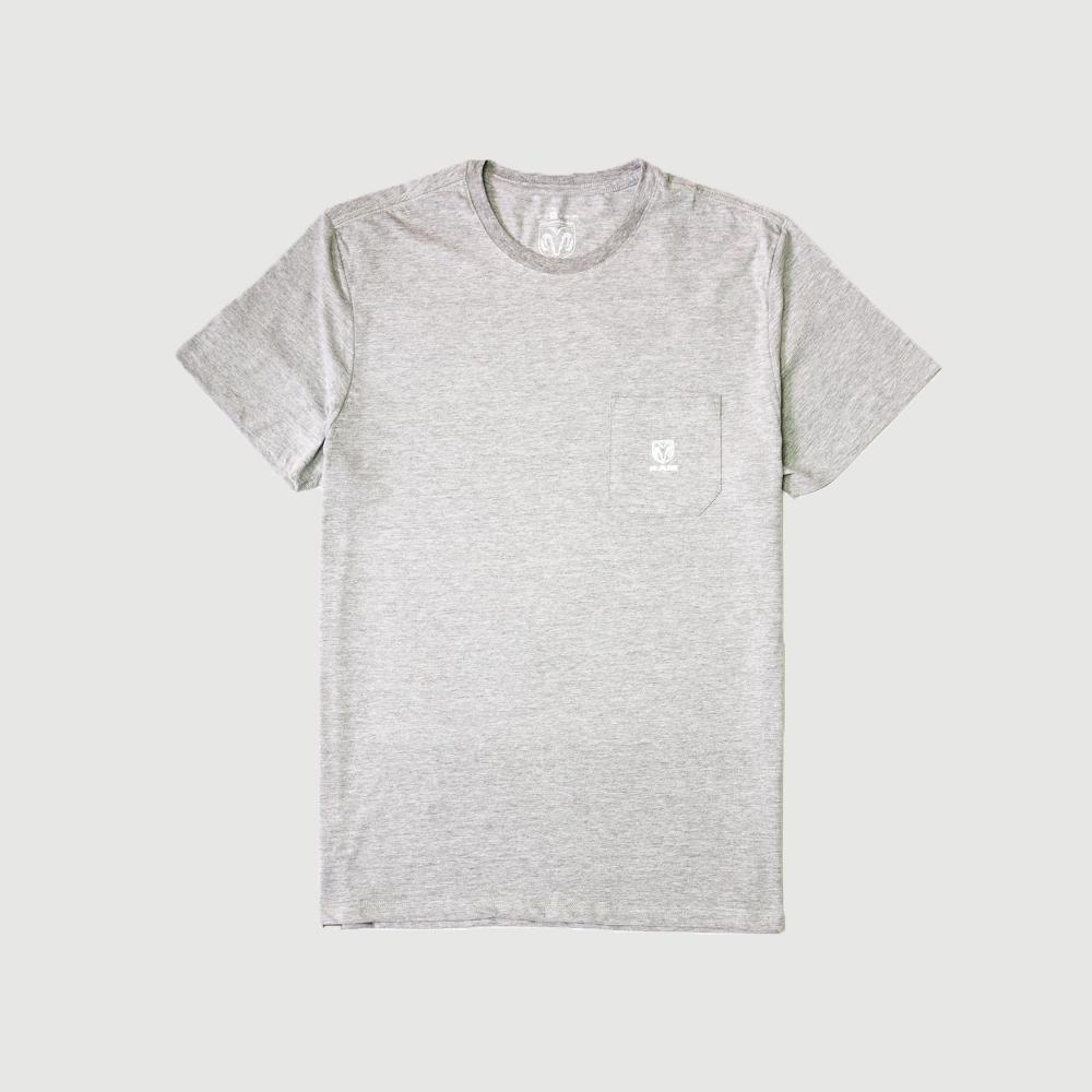Camiseta RAM - Pocket Logo - Cinza Mescla