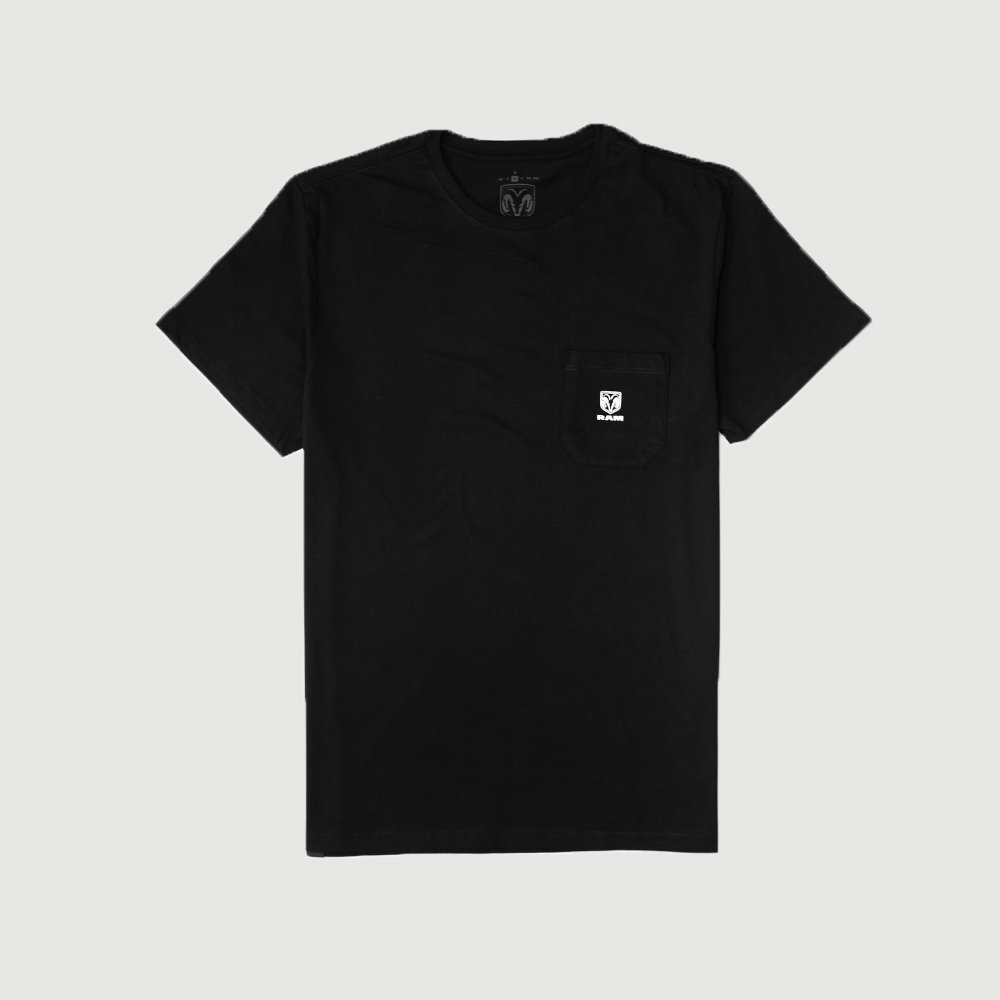 Camiseta RAM Pocket Logo - Preta