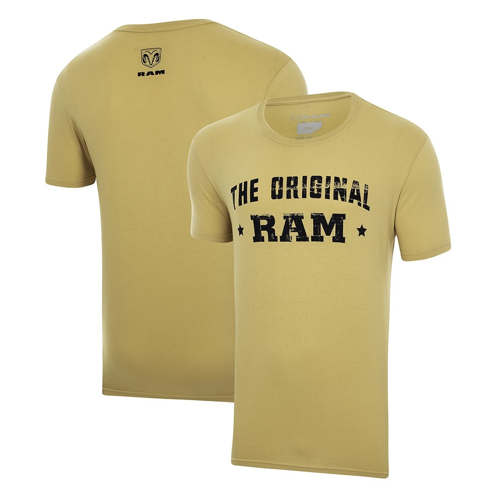 Camiseta Masculina RAM The Original - Mostarda