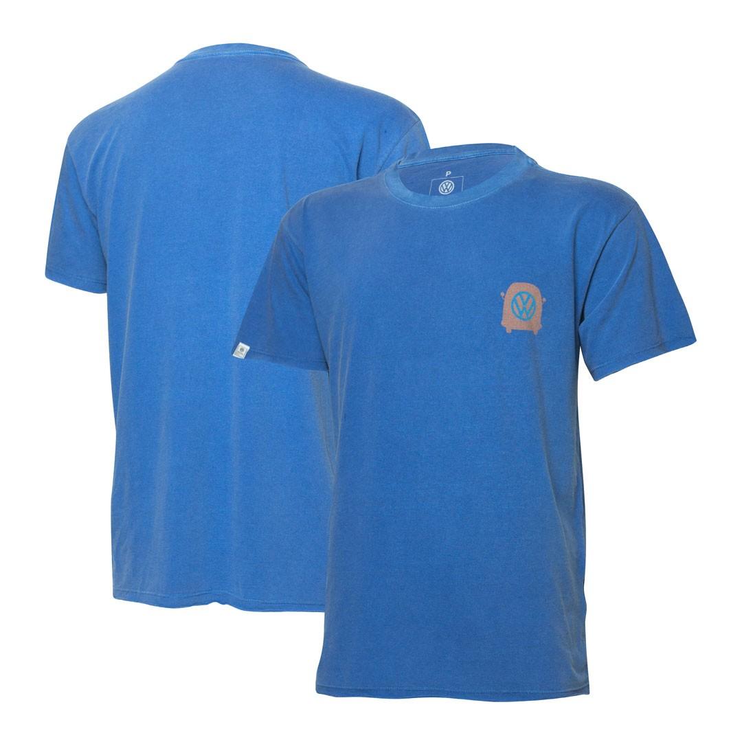 Camiseta VW Freedom Estonada Logo - Azul