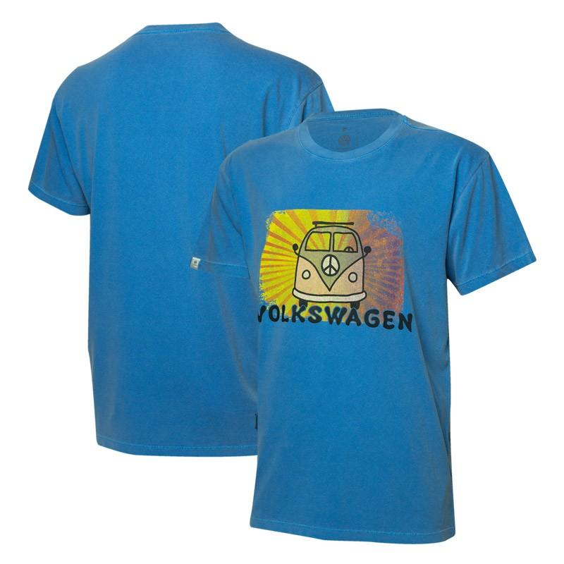 Camiseta VW Freedom Light Rays Estonada - Azul