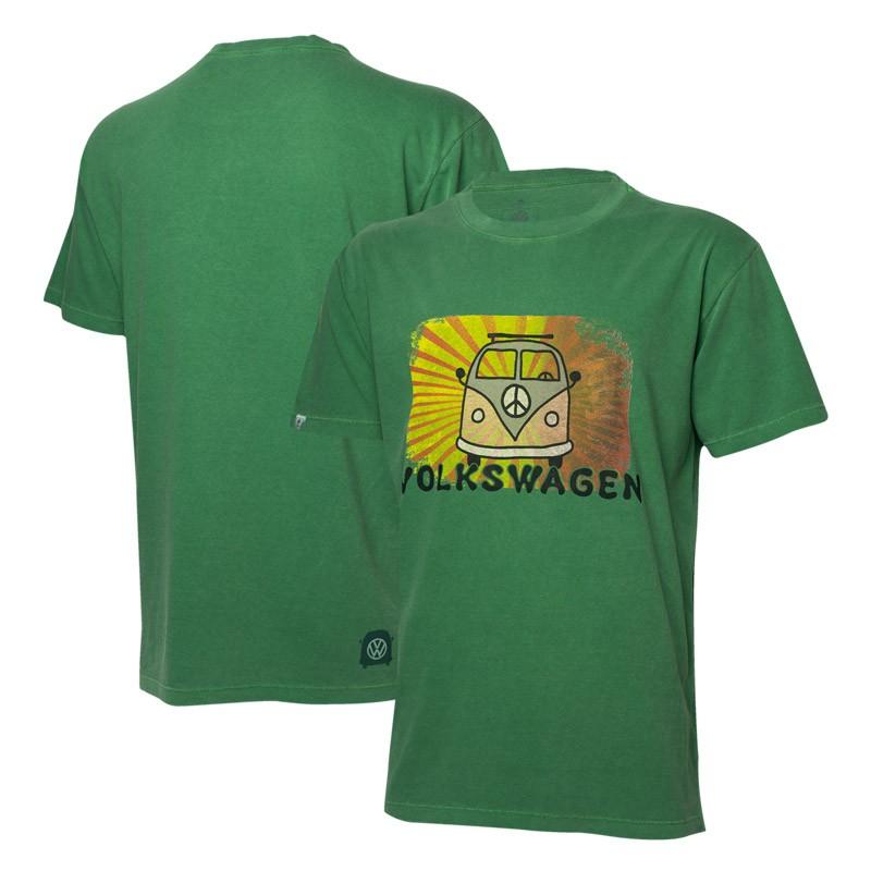 Camiseta VW Freedom Light Rays Estonada - Verde