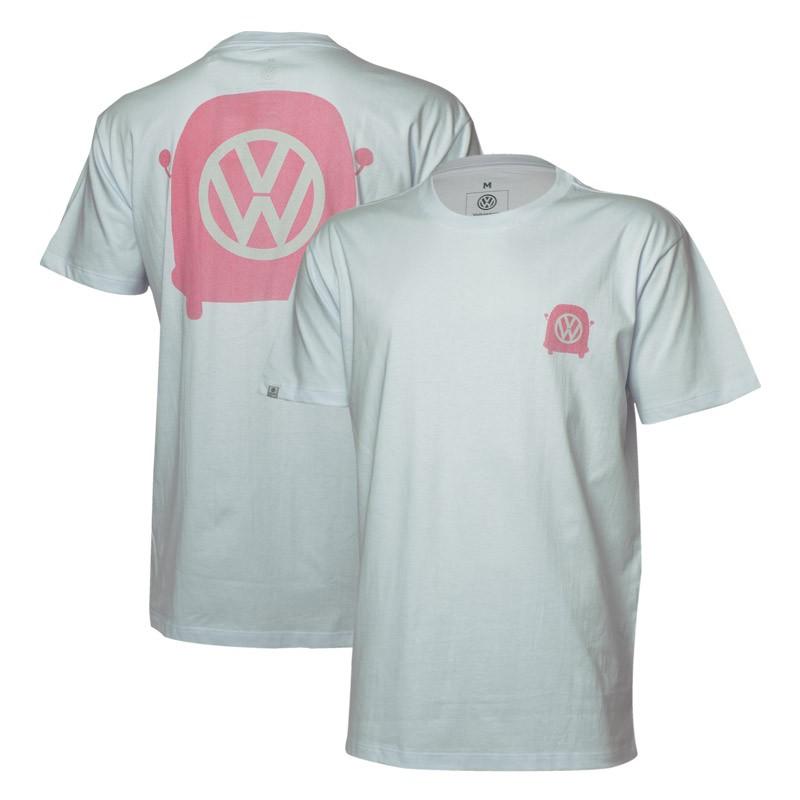 Camiseta VW Freedom Mirrored - Branca