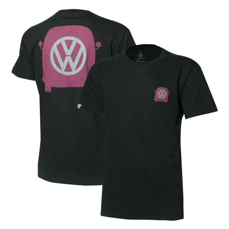 Camiseta VW Freedom Mirrored - Preta