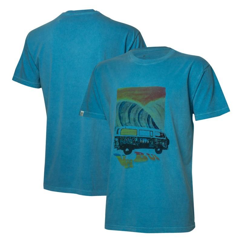 Camiseta VW Freedom Painting Estonada - Azul