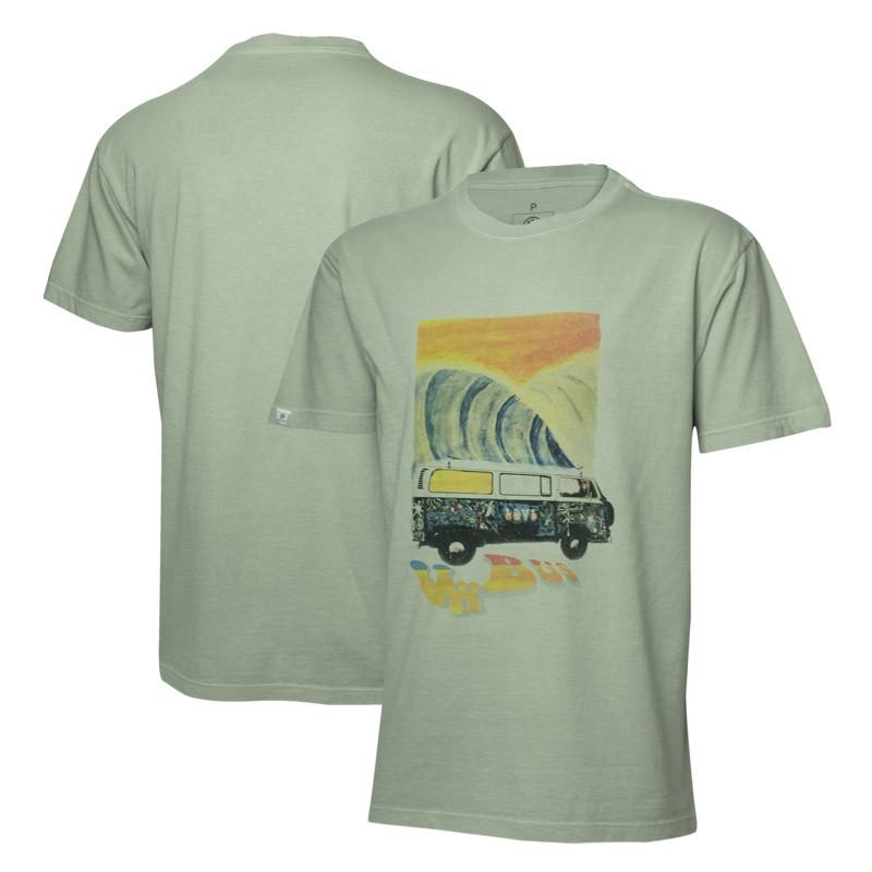 Camiseta VW Freedom Painting Estonada - Cinza