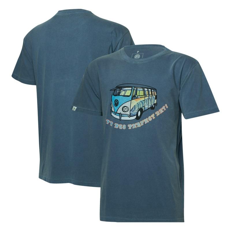 Camiseta VW Freedom Perfect Day Estonada - Azul
