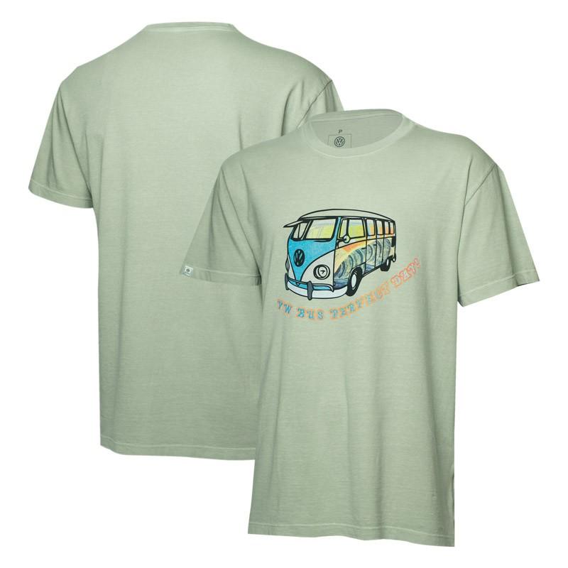 Camiseta VW Freedom Perfect Day Estonada - Cinza