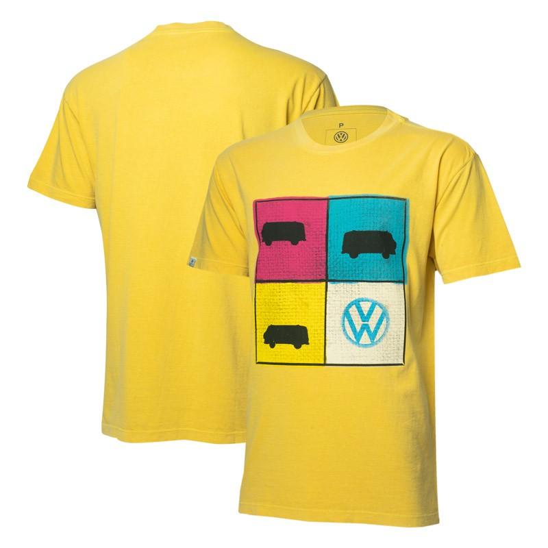 Camiseta VW Freedom Portraits Estonada - Amarela