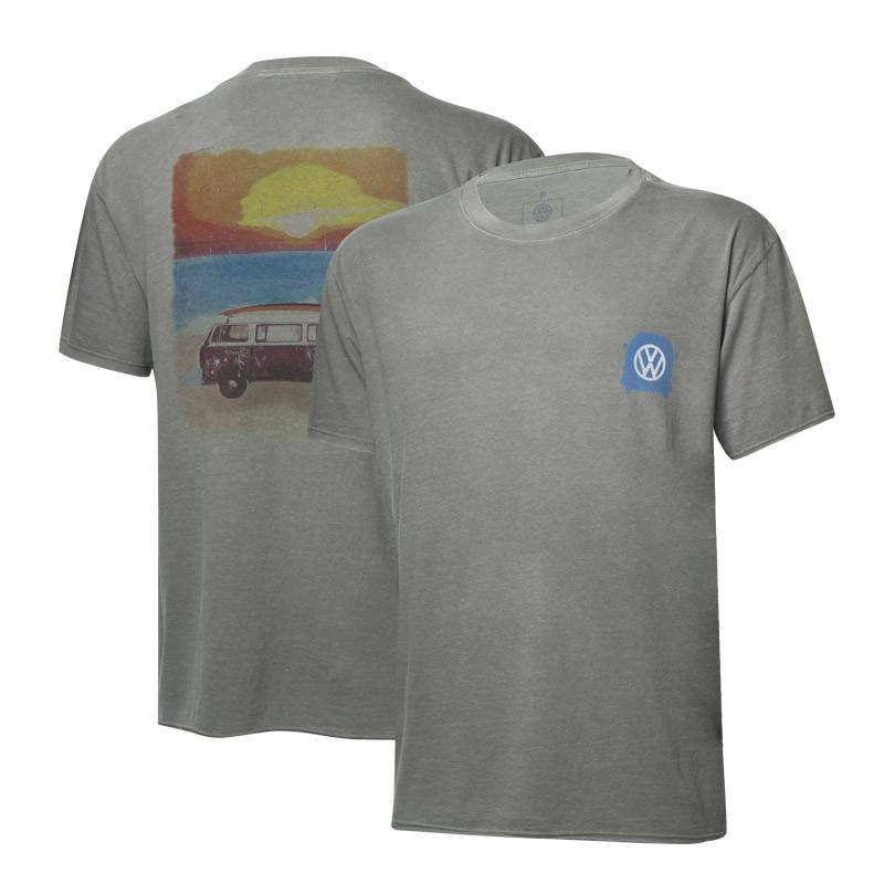 Camiseta VW Freedom Sunset Estonada - Cinza