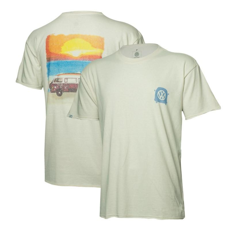 Camiseta VW Freedom Sunset Estonada - Off White