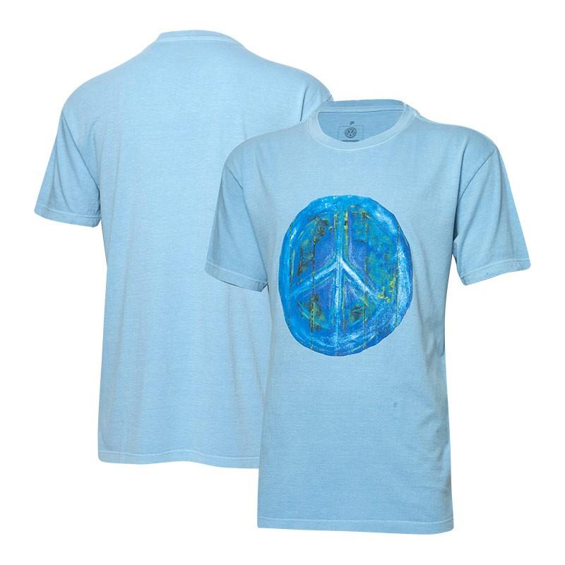 Camiseta VW Freedom Wood Painting - Azul