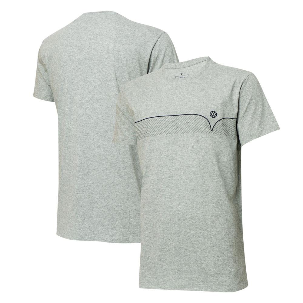 Camiseta VW Kombi Lines - Cinza Mescla