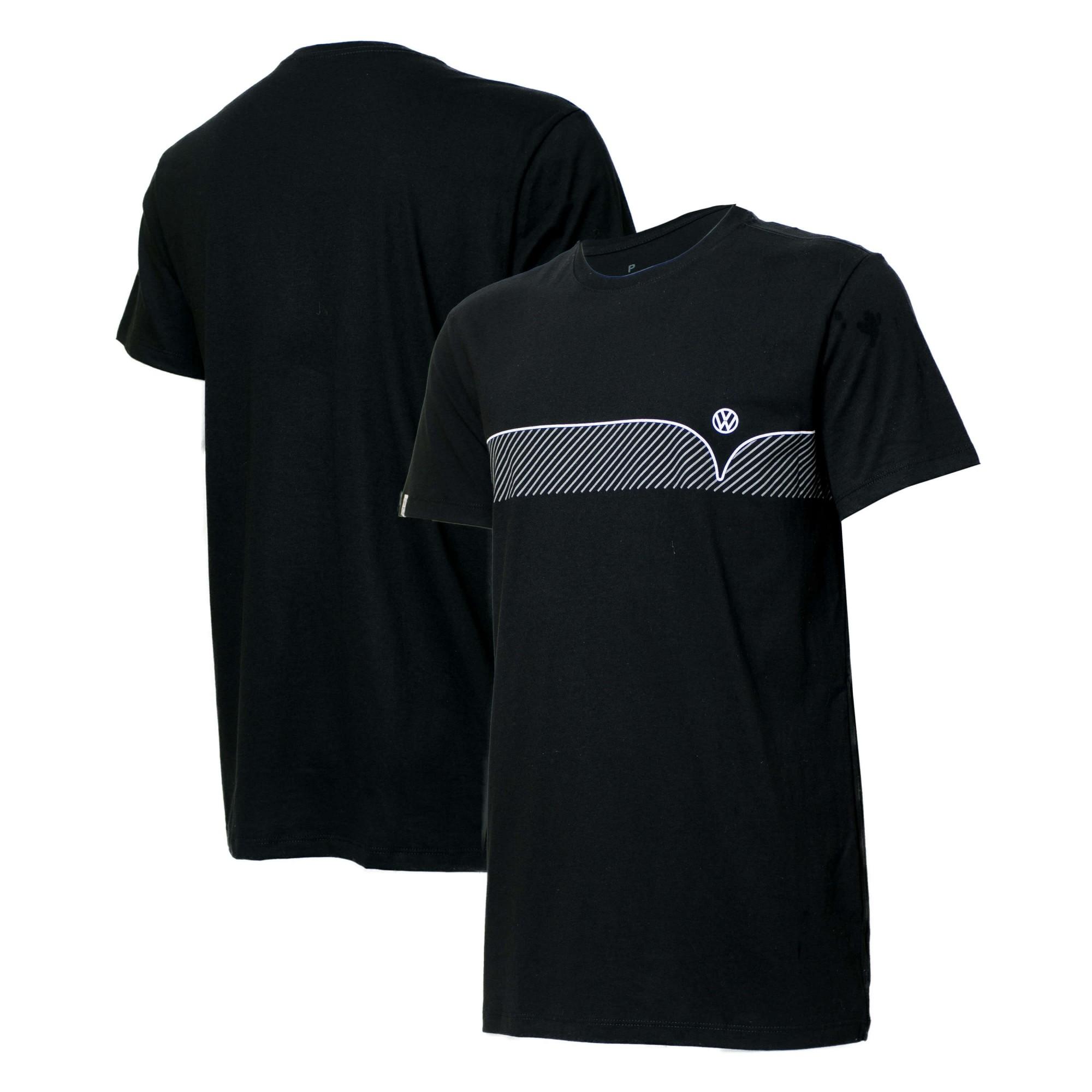 Camiseta VW Kombi Lines - Preta
