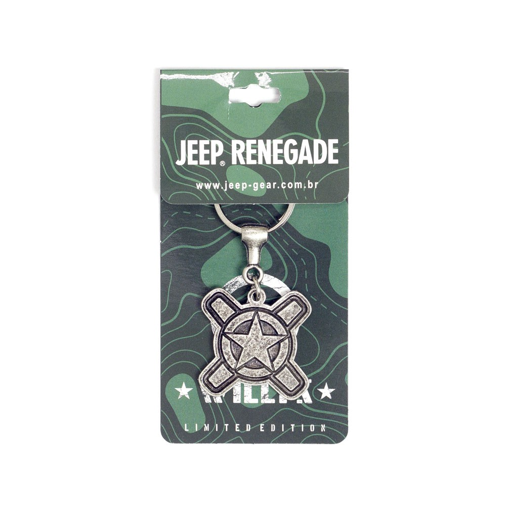 Chaveiro Jeep Limited Edition Renegade Willys Prata Batido