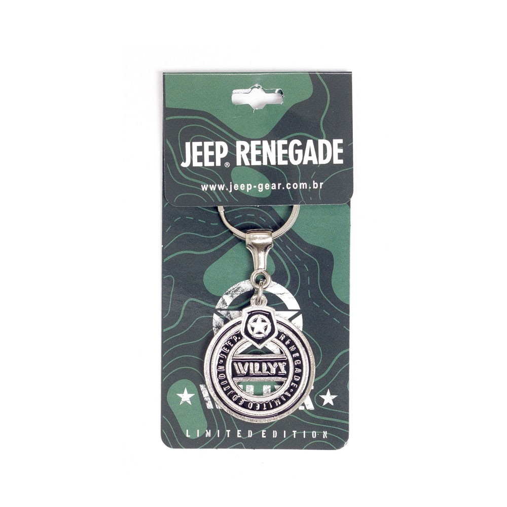 Chaveiro Jeep Limited Edition Renegade Willys Round