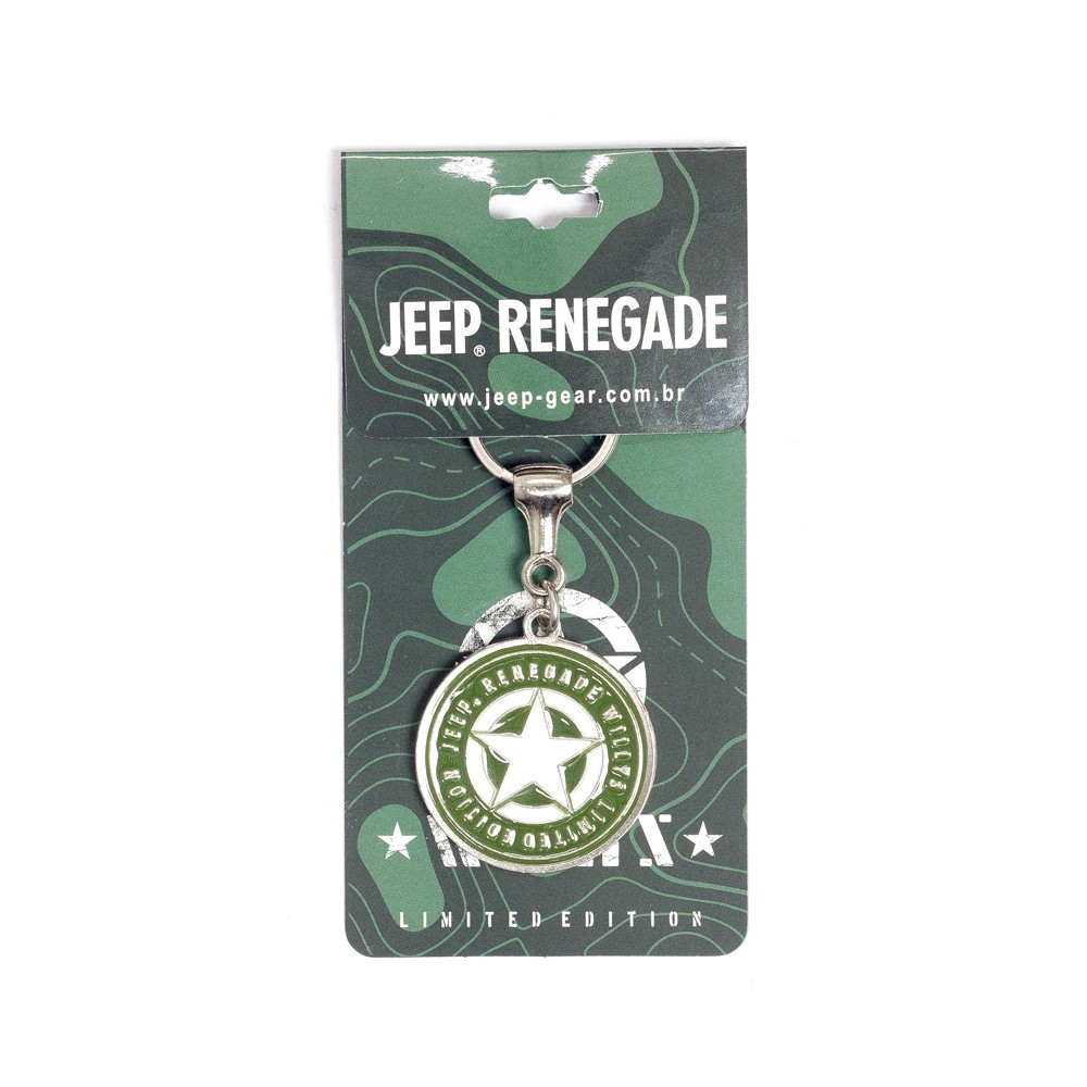 Chaveiro Jeep Limited Edition Renegade Willys Star
