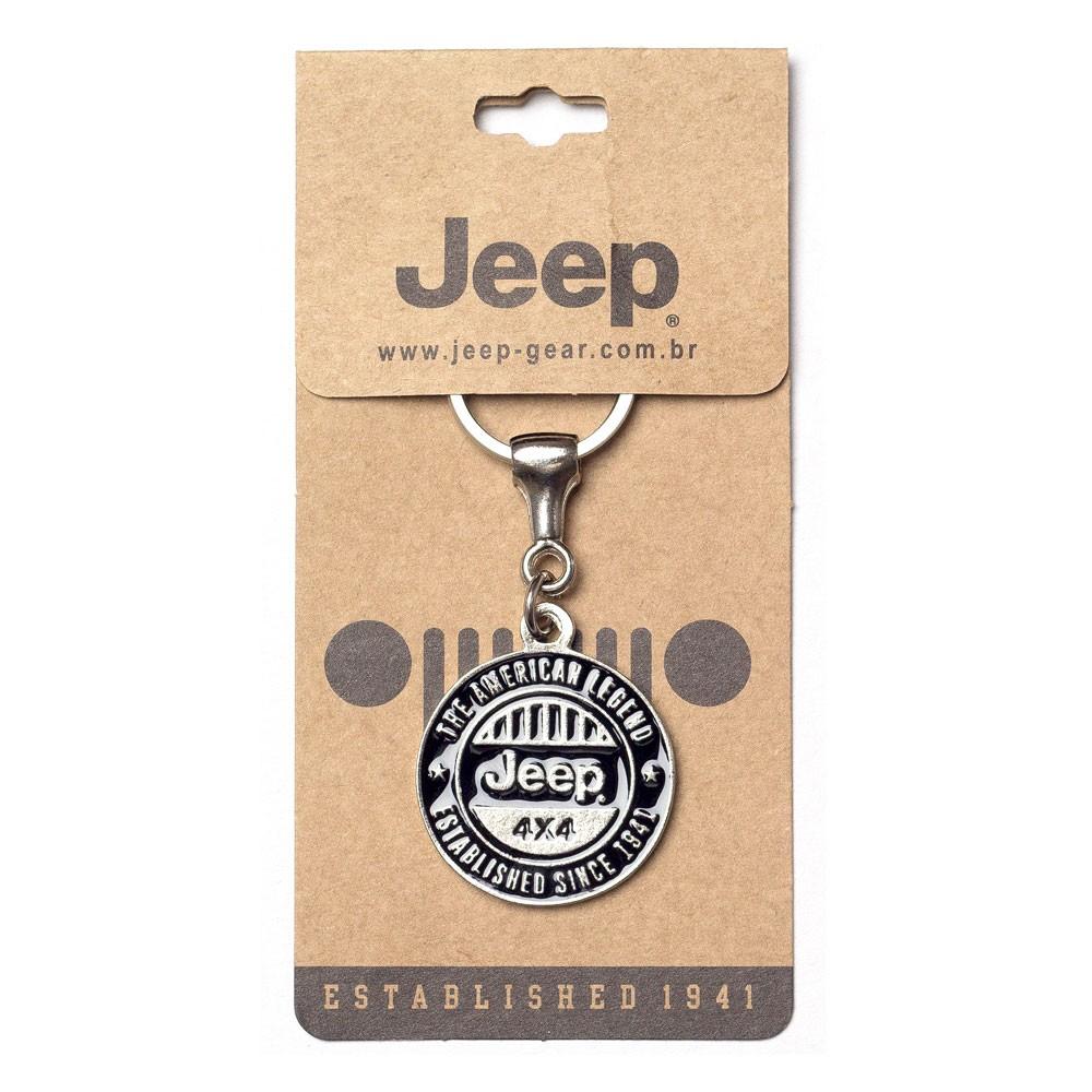 Chaveiro Jeep Redondo American Legend 4x4 Preto