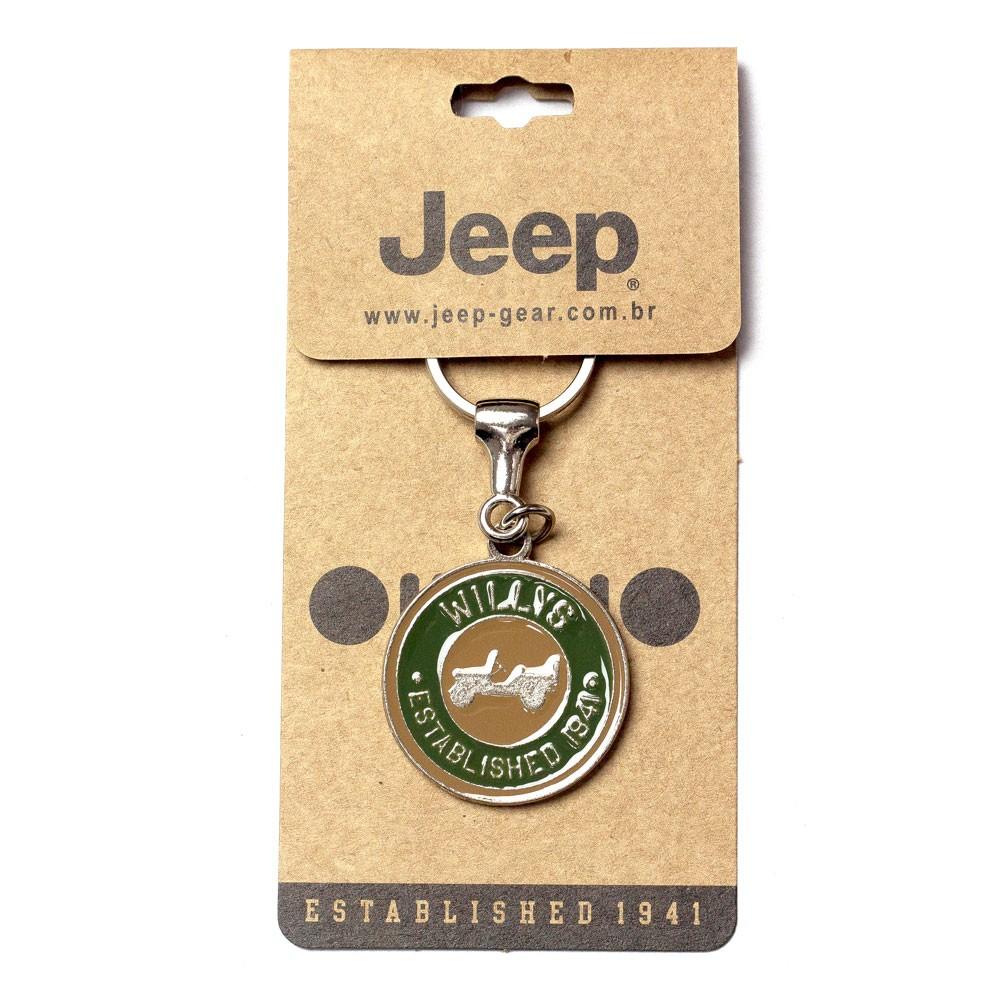 Chaveiro Jeep Redondo Willys