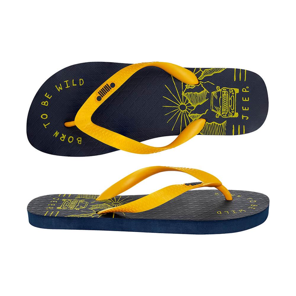 Chinelo JEEP Renegade Wild - Azul/Amarelo
