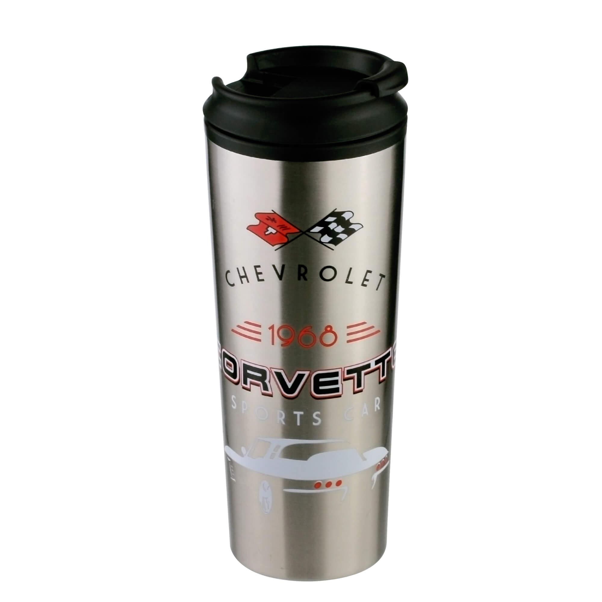 Copo Térmico Chevrolet - Corvette - Cinza - 500 ml