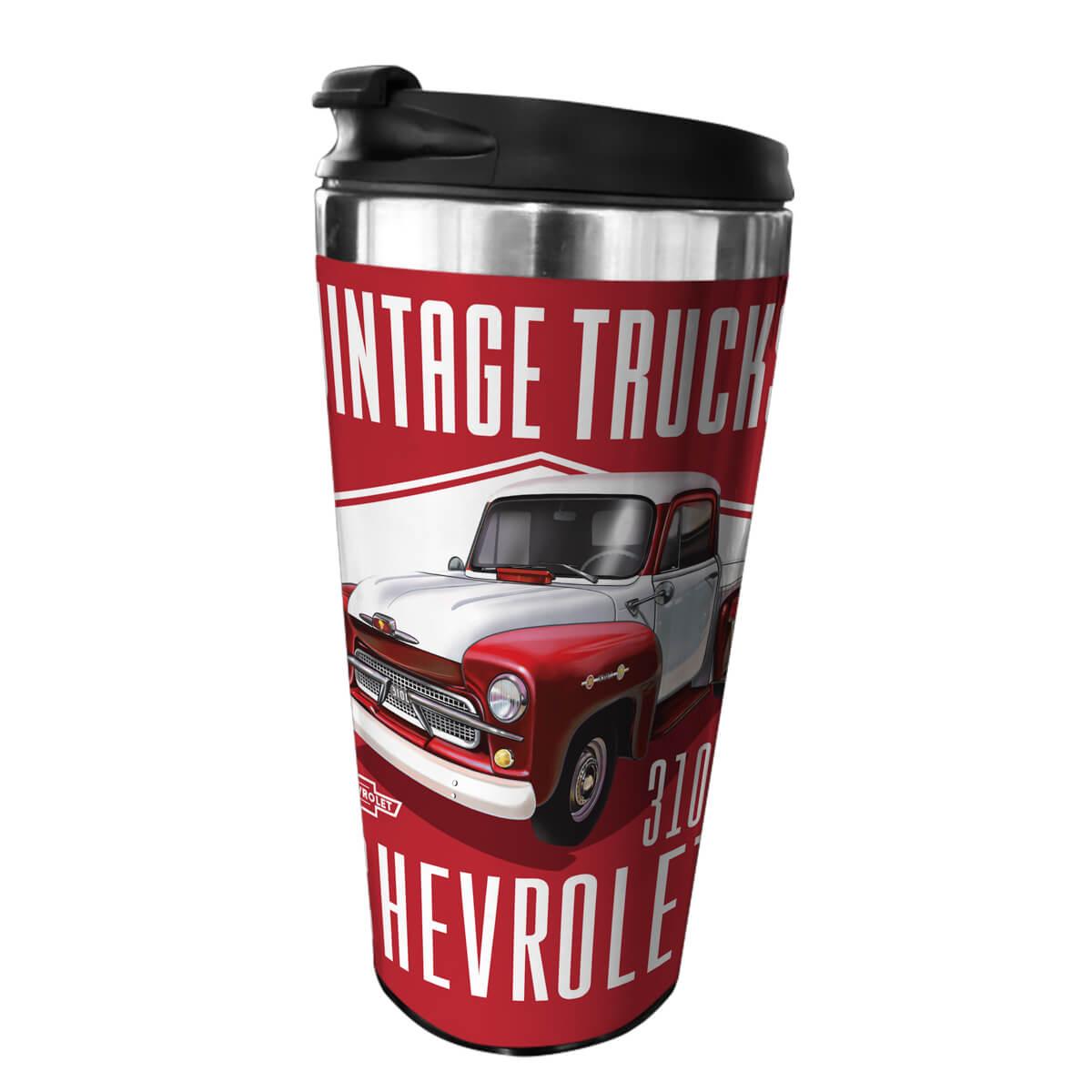 Copo Térmico de Plástico Chevrolet - Chevy 3100 - Vermelho - 500 ml