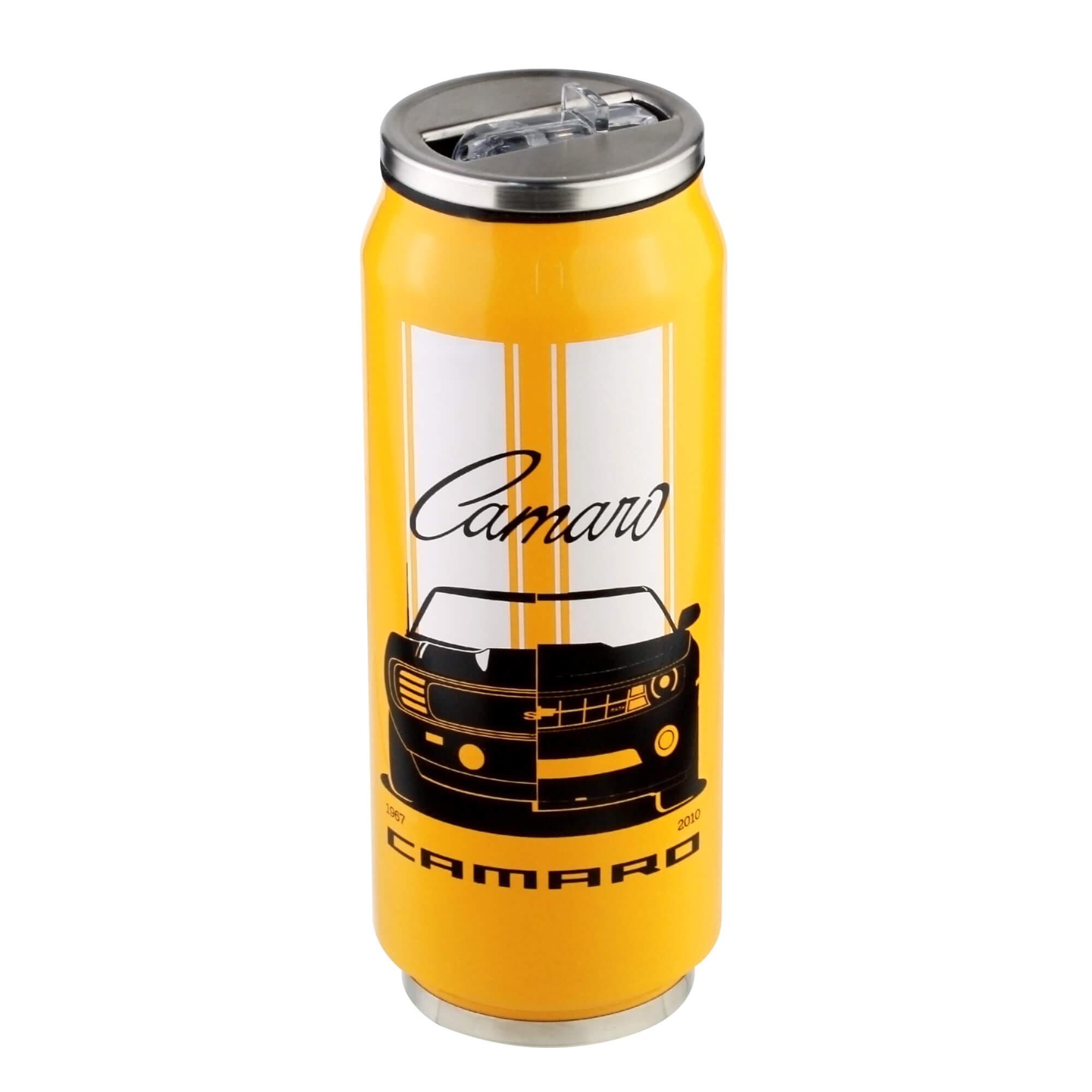Copo Térmico Inox Chevrolet - Camaro - Amarelo - 473 ml