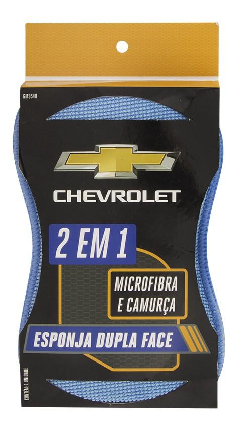 Esponja Dupla Face Chevrolet 2 em 1 - Microfibra e Camurça