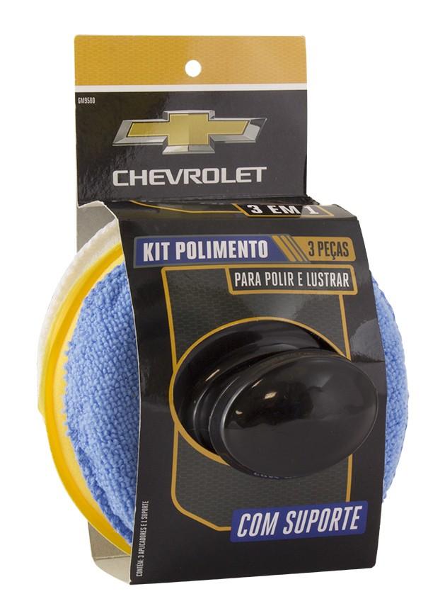 Kit de Polimento Chevrolet 3 em 1 com Suporte