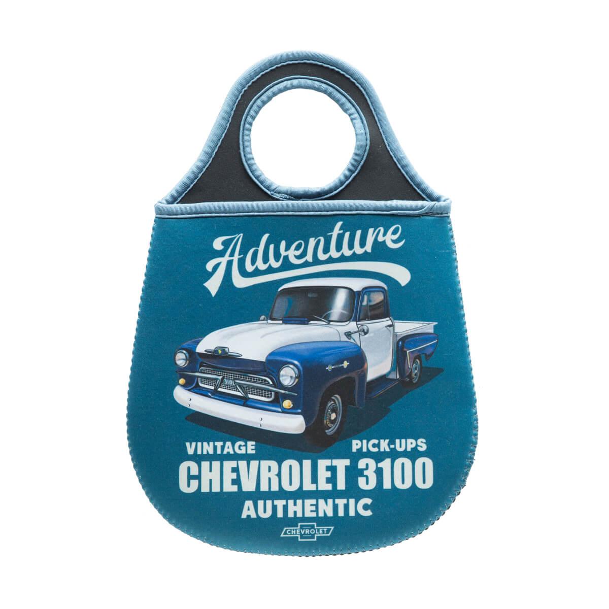 Lixeira de Carro Neoprene Chevrolet - Pick up 3100 - Azul