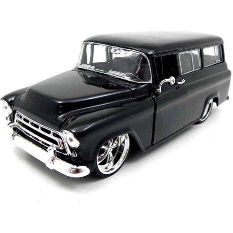 Miniatura Chevrolet 1957 Big Time Kustoms 1:24 - Preto