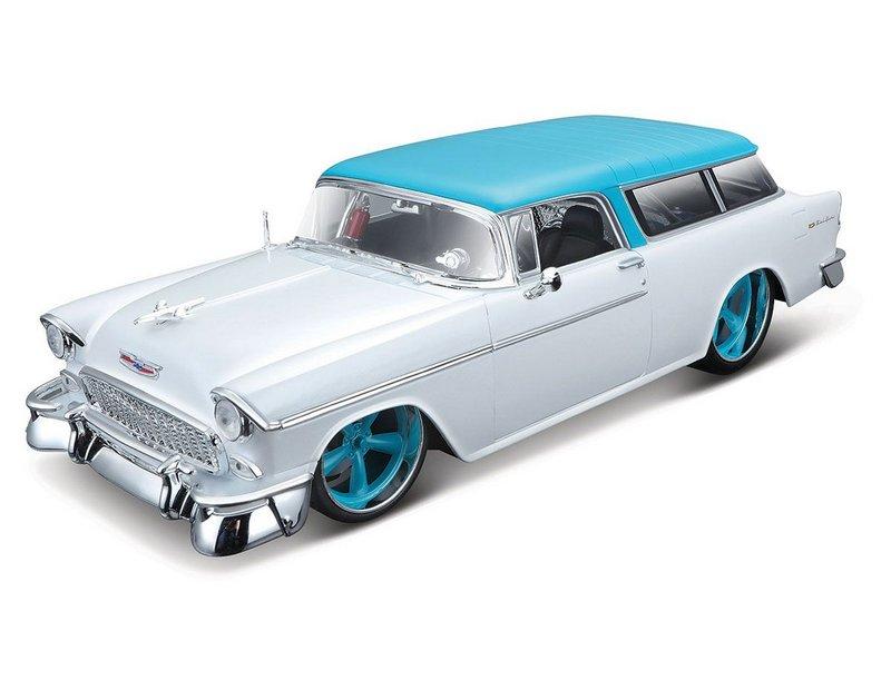 Miniatura Chevrolet Bel Air Nomad 1955 1:18 - Branca