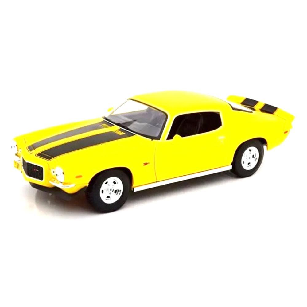 Miniatura Chevrolet Camaro 1971 1:18 - Amarelo