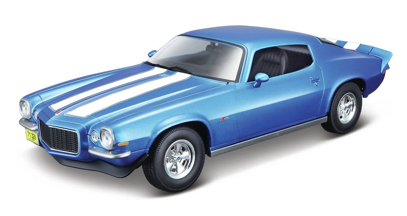 Miniatura Chevrolet Camaro 1971 1:18 - Azul