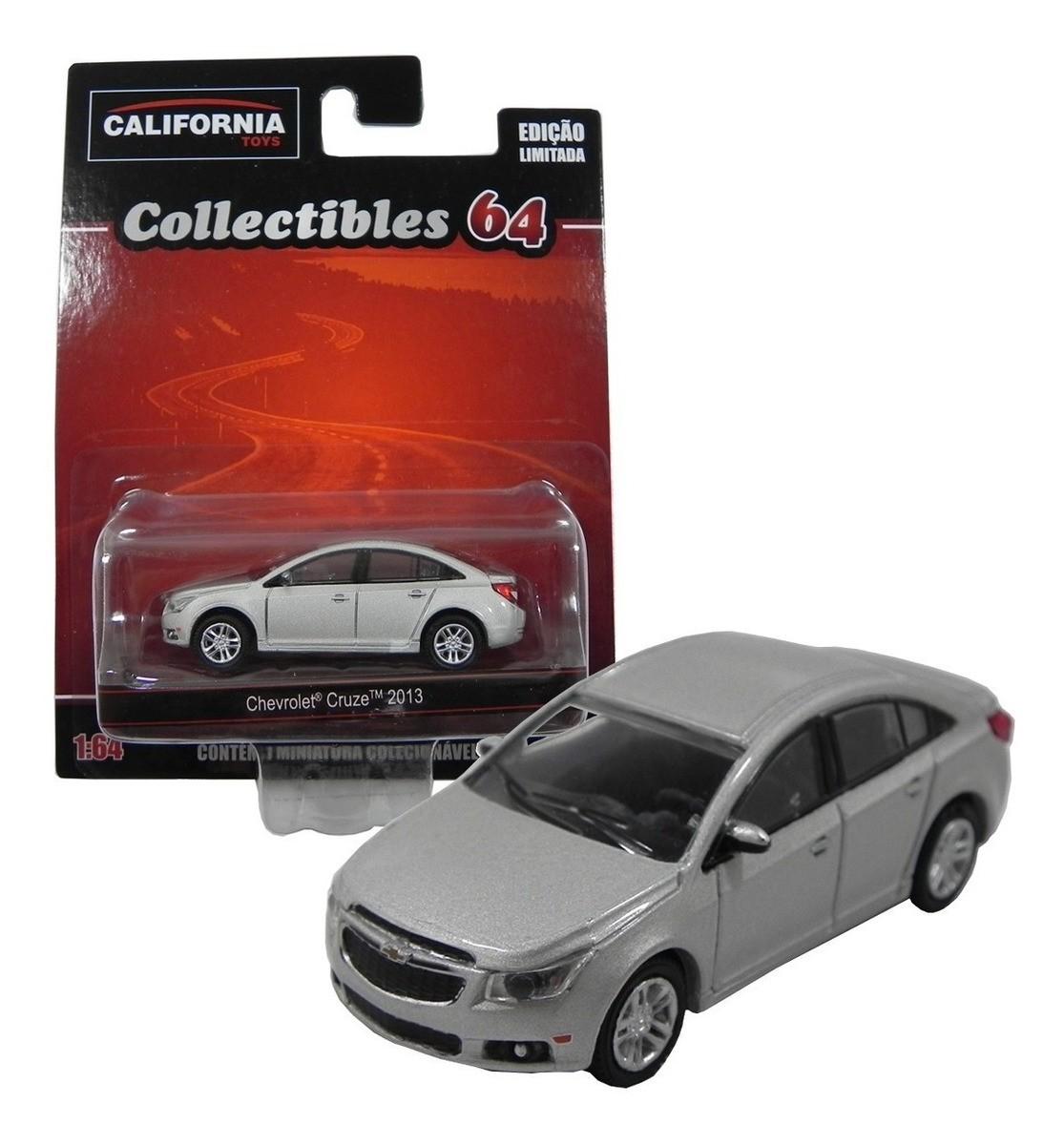 Miniatura Chevrolet Collectibles Cruze 2013 1:64 - Prata