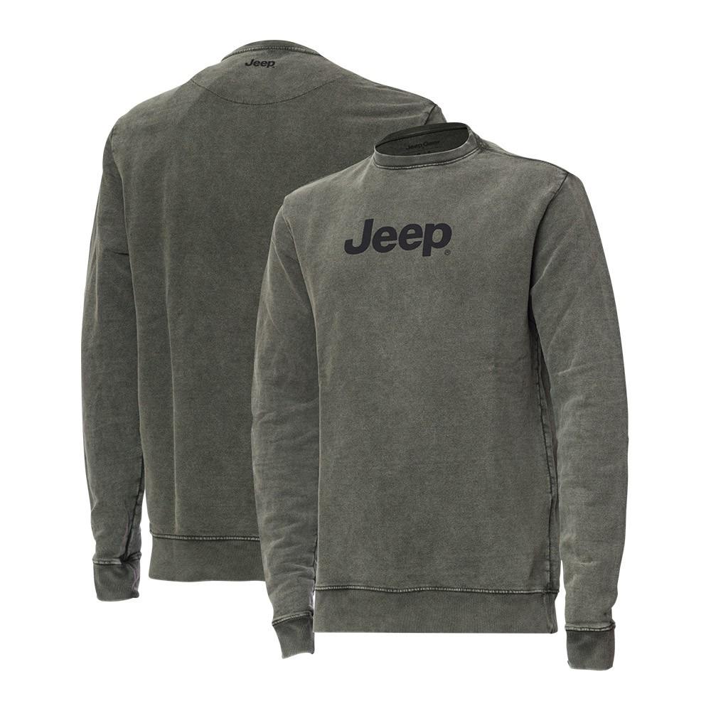 Moletom Premium JEEP - Lavado Marmorizado - Logo - Verde