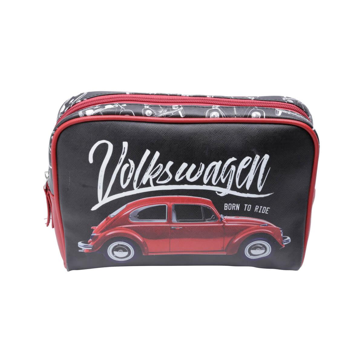 Necessaire PU VW - Fusca Born to Ride - Preto
