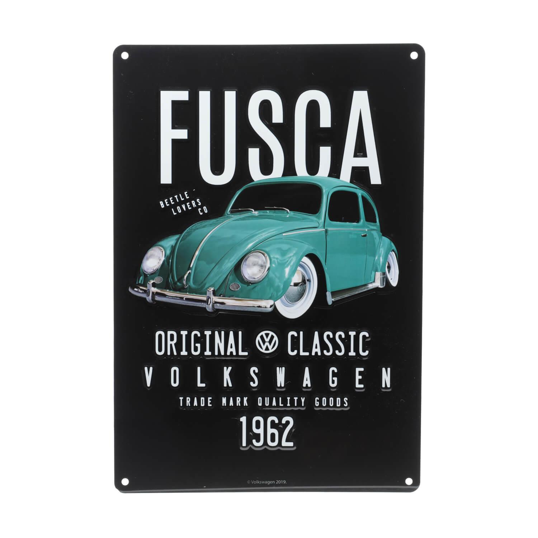 Placa de Alumínio VW - Fusca Classic - Preto