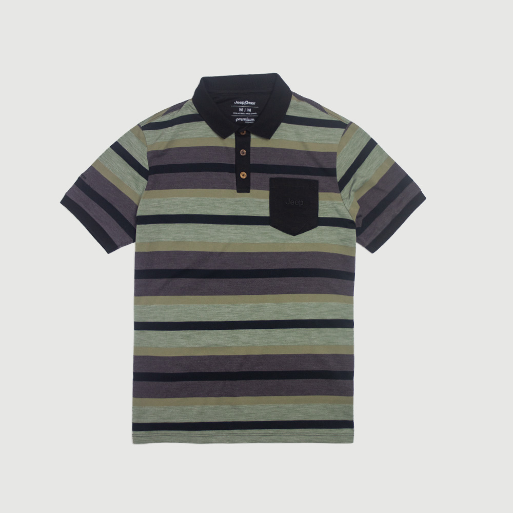 Polo Especial JEEP 80th Anniversary Natural Striped - Verde