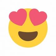 Arquivo de Corte - Emoji Apaixonado