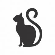 Arquivo de Corte - Gato Preto silhueta