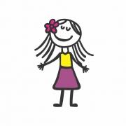 Arquivo de Corte - Menina Flor no Cabelo