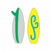 Arquivo de Corte - Prancha de Surf